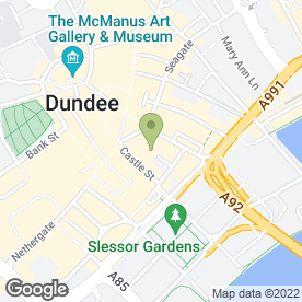 Map of St Paul's Episcopal Cathedral in Dundee, angus