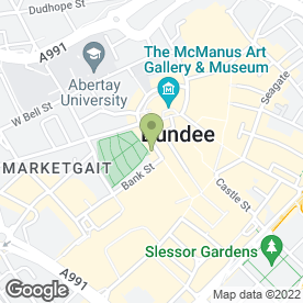 Map of Doll Face in Dundee, angus