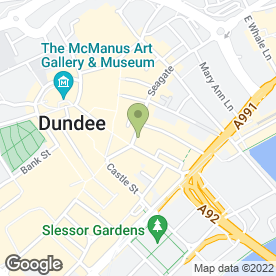 Map of The Underground in Dundee, angus