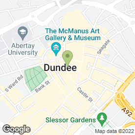 Map of Greggs in Dundee, angus