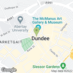 Map of Saks in Dundee, angus