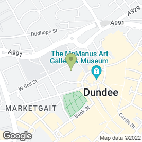 Map of High School of Dundee in Dundee, angus