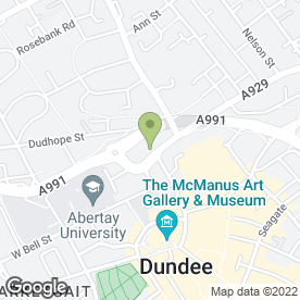 Map of Dundee Carpet Shop in Dundee, angus