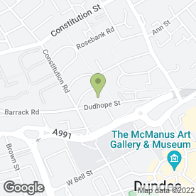 Map of Blue Square Design Ltd in Dundee, angus