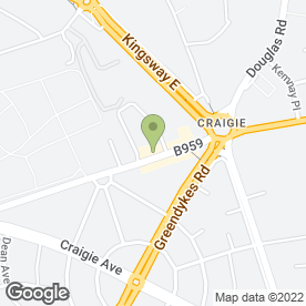 Map of Craigiebank P.O in Dundee, angus