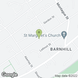 Map of Barnhill Travel in Broughty Ferry, Dundee, angus