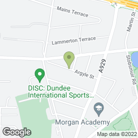 Map of Argyle Plasterers in Dundee, angus