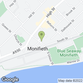 Map of Digital Service in Monifieth, Dundee, angus