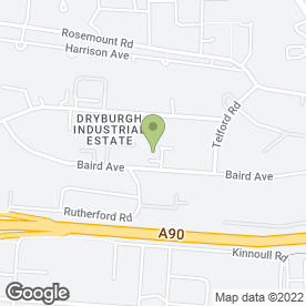 Map of Bunzl Greenhan Ltd in Dryburgh Industrial Estate, Dundee, angus
