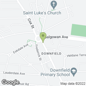 Map of Downfield P.O in Dundee, angus