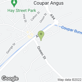 Map of Drs A Milne, R McCorkindale, C Part in Coupar Angus, Blairgowrie, Perthshire