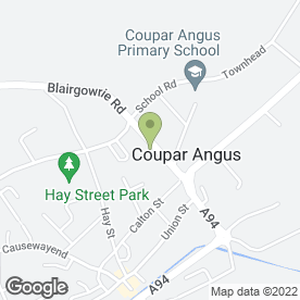 Map of Strathmore Windows in Coupar Angus, Blairgowrie, perthshire