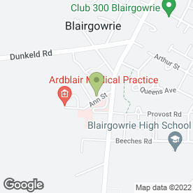Map of Health Services in Blairgowrie, perthshire