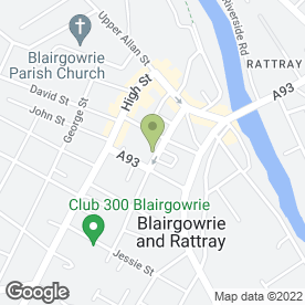 Map of Gillespie Inverarity & Co in Blairgowrie, perthshire