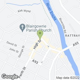 Map of Royal Hotel in Blairgowrie, perthshire