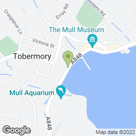 Map of Tobermory Pharmacy in Tobermory, Isle Of Mull, isle of mull