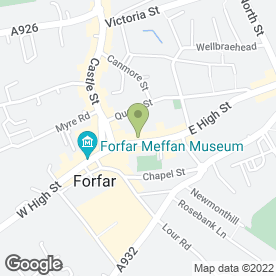 Map of BOWMANS in Forfar, angus