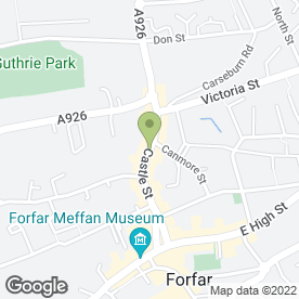 Map of CASTLE CLUB in Forfar, angus
