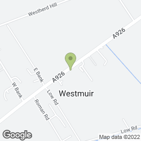 Map of C & E Westmuir Shoppie & P.O in Westmuir, Kirriemuir, angus