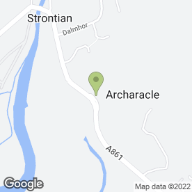 Map of Woodland Pottery in Strontian, Acharacle, argyll