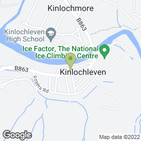 Map of Royal Bank of Scotland in Kinlochleven, argyll