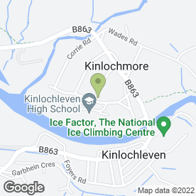 Map of Tailrace Inn in Kinlochleven, argyll
