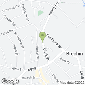Map of Mackie Motors (Brechin) Ltd in Brechin, angus