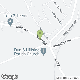 Map of Hillside P.O in Hillside, Montrose, angus