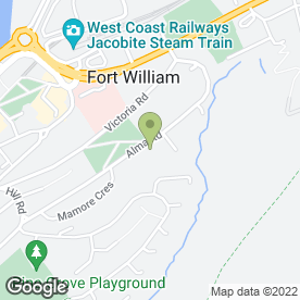 Map of R Campbell in Fort William, inverness-shire