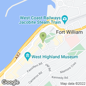 Map of Tesco Metro in Fort William, inverness-shire