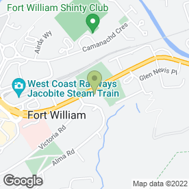 Map of A.J Ross in Fort William, inverness-shire