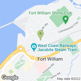 Map of WM Morrison Supermarkets plc in Fort William, inverness-shire