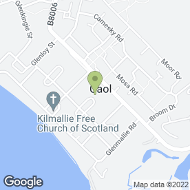 Map of JAMES A CAMERON REMOVALS in Caol, Fort William, inverness-shire