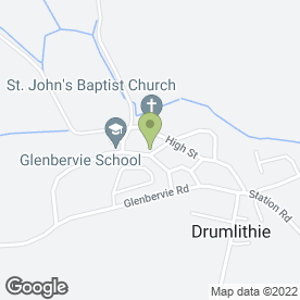 Map of Glenbervie School in Drumlithie, Stonehaven, kincardineshire