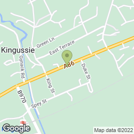 Map of Robertson & Co in Kingussie, inverness-shire