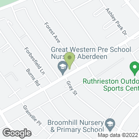 Map of GREAT WESTERN PRE SCHOOL in Aberdeen, aberdeenshire