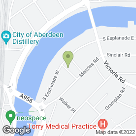 Map of The Master Wallace Blackbelt Academy in Aberdeen, aberdeenshire