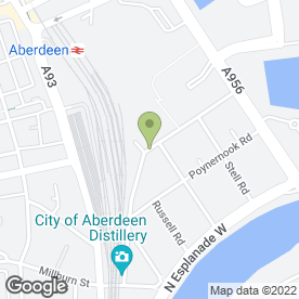 Map of A To B Removals in Aberdeen, aberdeenshire