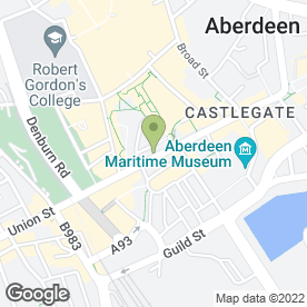 Map of Vodafone Ltd in Aberdeen, aberdeenshire