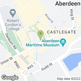 Map of Royal Bank of Scotland in Aberdeen, aberdeenshire