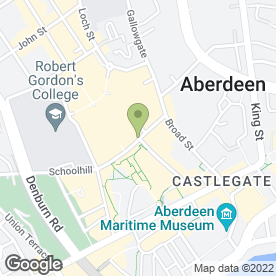 Map of Gordon & Watson in Aberdeen, aberdeenshire