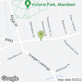 Map of Cach-Ca Hair Studio in Aberdeen, aberdeenshire
