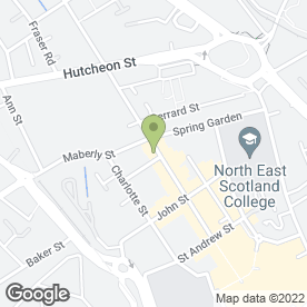 Map of The Blue Elephant Tandoori Takeaway in Aberdeen, aberdeenshire