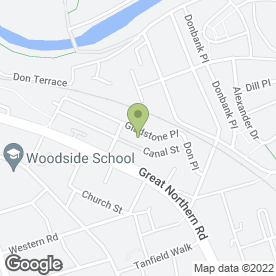 Map of W.R. Contracts in Woodside, Aberdeen, aberdeenshire