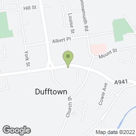 Map of DJ's Chippy in Dufftown, Keith, banffshire