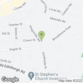 Map of KINGSMILLS DENTAL PRACTICE in Inverness, inverness-shire