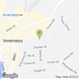Map of Cowan Douglas Law in Inverness, inverness-shire