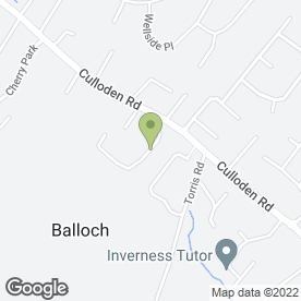 Map of Strive 2 Drive in Balloch, Inverness, inverness-shire