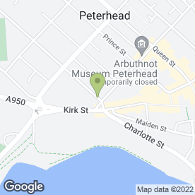 Map of Astra Cabs in Peterhead, aberdeenshire
