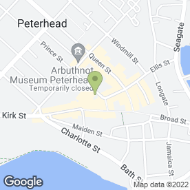 Map of Palace Hotel in Peterhead, aberdeenshire